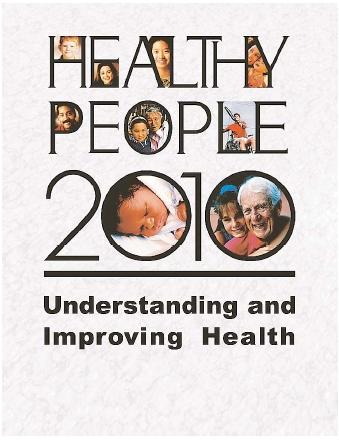Healthy People 2010 describes ten leading health indicators (LHIs) that reflect important health concerns for U.S. citizens. The LHIs, which include physical activity, mental health, and substance abuse, among others, are accompanied by a set of objectives designed to improve Americans' health. [I.Q. Solutions. Reproduced by permission.]