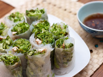 Asian Veggie Wraps with