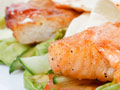 Grilled Salmon Wraps
