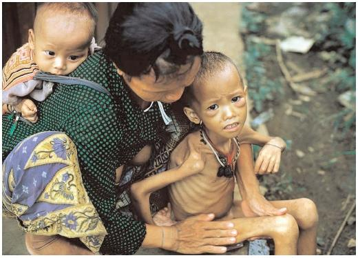 Food insecurity affects millions of people around the world, including these children in Thailand. The situation in that country and a handful of others has improved slightly, but progress is slow. [© Bettmann/Corbis. Reproduced by permission.]